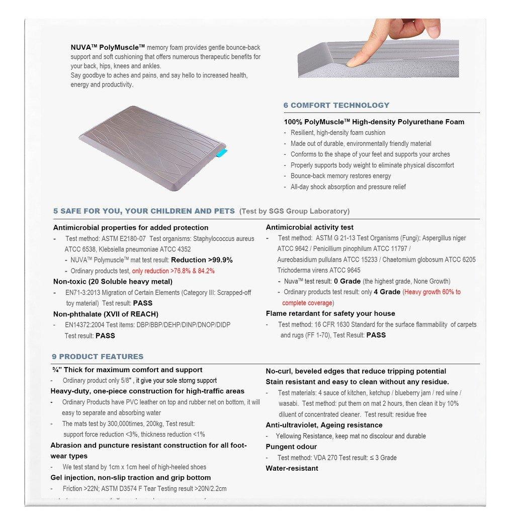 Memory Foam Mat For Standing Desk